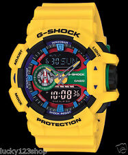 GA-400-9A Yellow Blue G-Shock Men's Watches Digital Resin Band 200m Casio Sport
