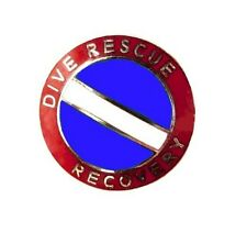 Dive Rescue Recovery Collar Pin Device Diving Team Nickel Scuba Diver Flag 68S2