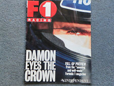 F1 Racing Damon ojos la corona de 1996 revista suplemento independiente