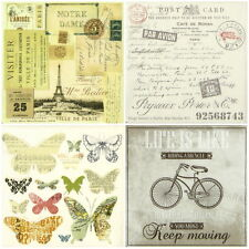 4x Single Table Party Paper Napkins for Decoupage Decopatch Craft Writing -Mix