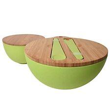 Jumbl Bamboo Fiber Bowl Set with Bamboo Lids & Inset Utensils - Cutting Boards