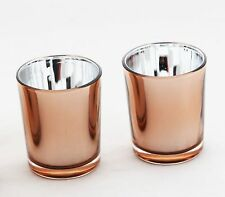Rose Gold Glass Wedding Party Event Tealight votive candle holder Order Qty Rqd