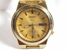 Vintage SEIKO 5 -- 17 Jewel Automatic Men's Wrist Watch SKELETON runs Cal. 7009A