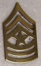 Hat Lapel Push Tie Tac Pin Army Rank Insignia Sergeant Major E-9 NEW
