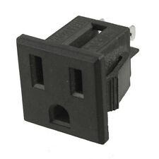 3 Pins Black Plastic AC 125V 15A Panel Mount US Outlet Power Socket New