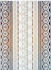Rice Paper for Decoupage Decopatch Scrapbook Craft Sheet Brown White Lace