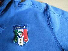 PUMA Pull-Over Hoodie Jacket Size L Distressed ITALY Flag Made in Turkey SOFT!
