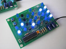 BCD Clock Kit Blue LED's DIY Binary Assembly School Project Soldering Time