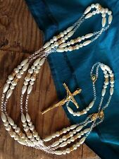 PEARLS WEDDING LASSO GOLD ACCENTS/ LAZO DE BODAS EN PERLAS COLOR BLANCO Con ORO