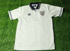 ENGLAND # 19 1990/1992 FOOTBALL SHIRT JERSEY HOME RETRO REPLICA UMBRO ORIGINAL