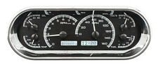 Dakota Digital Universal Oval VHX Analog Dash Gauges Black Alloy White VHX-1018