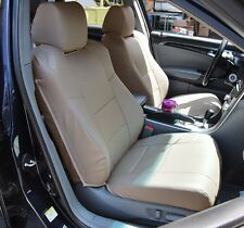 ACURA TL 2004-2008 BEIGE LEATHER-LIKE CUSTOM MADE FIT FRONT SEAT COVER