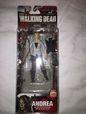 The Walking Dead Andrea Action Figure With Pitchfork-Rifle & Gun BRAND NEW NIB!