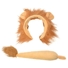 Childrens Lion Fancy Dress Costume Set Kit Animal Ears & Tail - Book Week Day