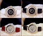 Damen Quartz Uhr! Armbanduhr!Kristall Strass-Steine im Ziffernblatt In Rose-Gold