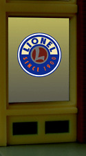 Lionel Trains Animated Neon Window Sign HO Scale 1:87 or O Scale Model Train Bui