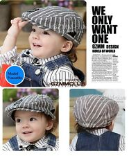 Handsome Stripe Everyday Baby Boy Cotton Hat Cap Beanie / 6 month-2 yrs