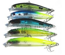 90mm 7.5g Top Water Fishing Lures Crankbait Crank Bait Bass Tackle Treble Hoo GB