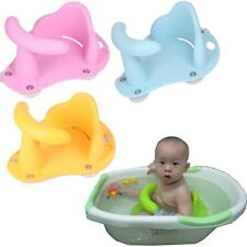 Baby Bath Chair Bathtub Ring Seat Infant Toddler Anti-slip Bathing Helper