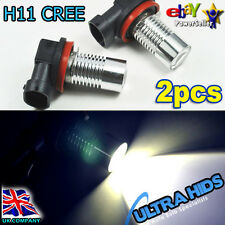 2x H11 CREE 5W LED projector Fog Drl Light Lamp bulb 6000k White AUDI A3 A4 A6