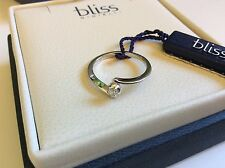 Bliss by Damiani 'Ventaglio' 18K White Gold Diamond Ring Size 6.25 20004573
