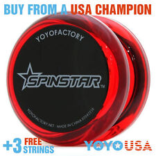 YoYoFactory Spinstar Beginner Yo-Yo Red + FREE STRINGS