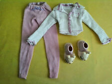 My Scene Barbie Doll Outfit Pink Pajama Pants Top Bunny Shoes Lot