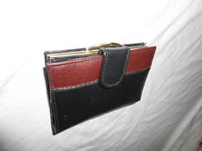 Wallet Black Real Leather Multi Slot Pocket Coins Stamps Practically Size Small