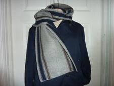 COACH 83140 Men's $198 gray Knit Stripe Scarf extra fine lambs Wool Striped NWT