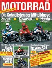 M8312 + Test HONDA VT 500 E + SUZUKI GSX 400 S + MOTORRAD 12/1983