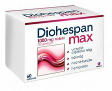 DIOHESPAN MAX : Diosminum 1000 mg LEG HEAVINESS,PAIN & FATIGUE  60 TABLETS