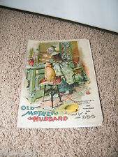 Old Mother Hubbard and Her Dog ~ Charles Graham ~ Vintage Cloth? Book 0346