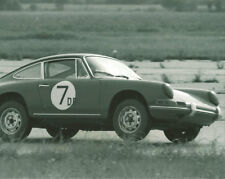 Vintage 8X10 SCCA 1965 Courtland, AL Porsche 911 Lifting Wheel Auto Racing Photo