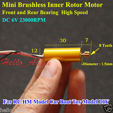 DC 6V 23000RPM High Speed 12mm Micro Brushless Motor Inner Rotor RC Aircraft Car