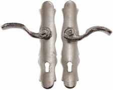 Dollhouse Miniature French Door Handles in Satin Nickel Finish