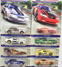 HOT WHEELS FORD PERFORMANCE MUSTANG 2016 SET OF 8 FASTBACK COBRA MACH 1 COUPE
