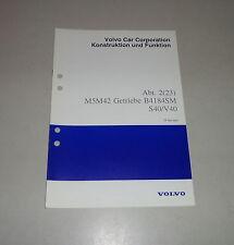 Werkstatthandbuch Funktion Volvo S40 / V40 Getriebe M5M42