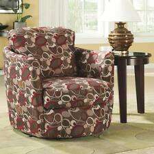Upholstered Swivel Accent Chair with Oblong Pattern by Coaster 900406