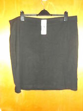 "Dalia Collection Plain Pull On Stretch Pencil Skirt UK 26-28 L 23"" Black BNWT"