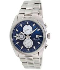 KENNETH COLE 9360 Men's Stainless Steel and Blue Multi-Function Watch (NWT)