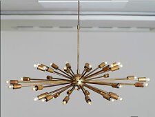 "MID CENTURY SPUTNIK CHANDELIER STARBURST LIGHT FITTING 36 ARMS/BULBS 38""/96cms"