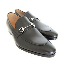 S-1638201 New Gucci Hylands Horsebit Leather Loafer Shoes Size US 13 Marked 12