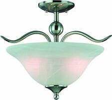 Hardware House H10-4289 Dover Semi Flush Mount Ceiling Light, Satin Nickel