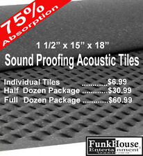 11/2 x 15 x 18 Gray Sound Proof Tiles