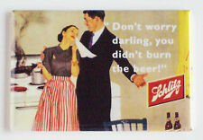 Schlitz Beer FRIDGE MAGNET (2 x 3 inches) sign humor bottle label alcohol