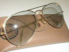 1960's 62[]14mm VINTAGE B&L RAY BAN GRAY PHOTOCHROMIC AVIATOR SUNGLASSES NEW