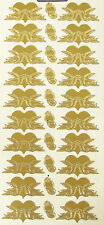 WEDDING HEARTS & DOVES RINGS GOLD OR SILVER PEEL OFF STICKERS CARDMAKING