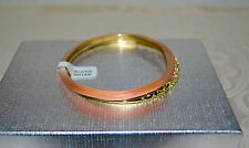 NWT $175 Alexis Bittar Paired Lucite Crystal Encrusted Bangles Flou Melon Peach