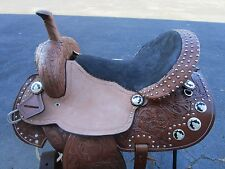 15 16 BARREL RACING SHOW PISTOL PLEASURE RACER LEATHER WESTERN HORSE SADDLE TACK