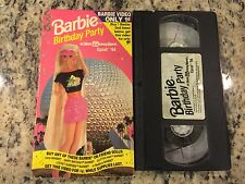 BARBIE BIRTHDAY PARTY AT WALT DISNEY WORLD EPCOT '94 OOP VHS! NOT ON DVD 1994!